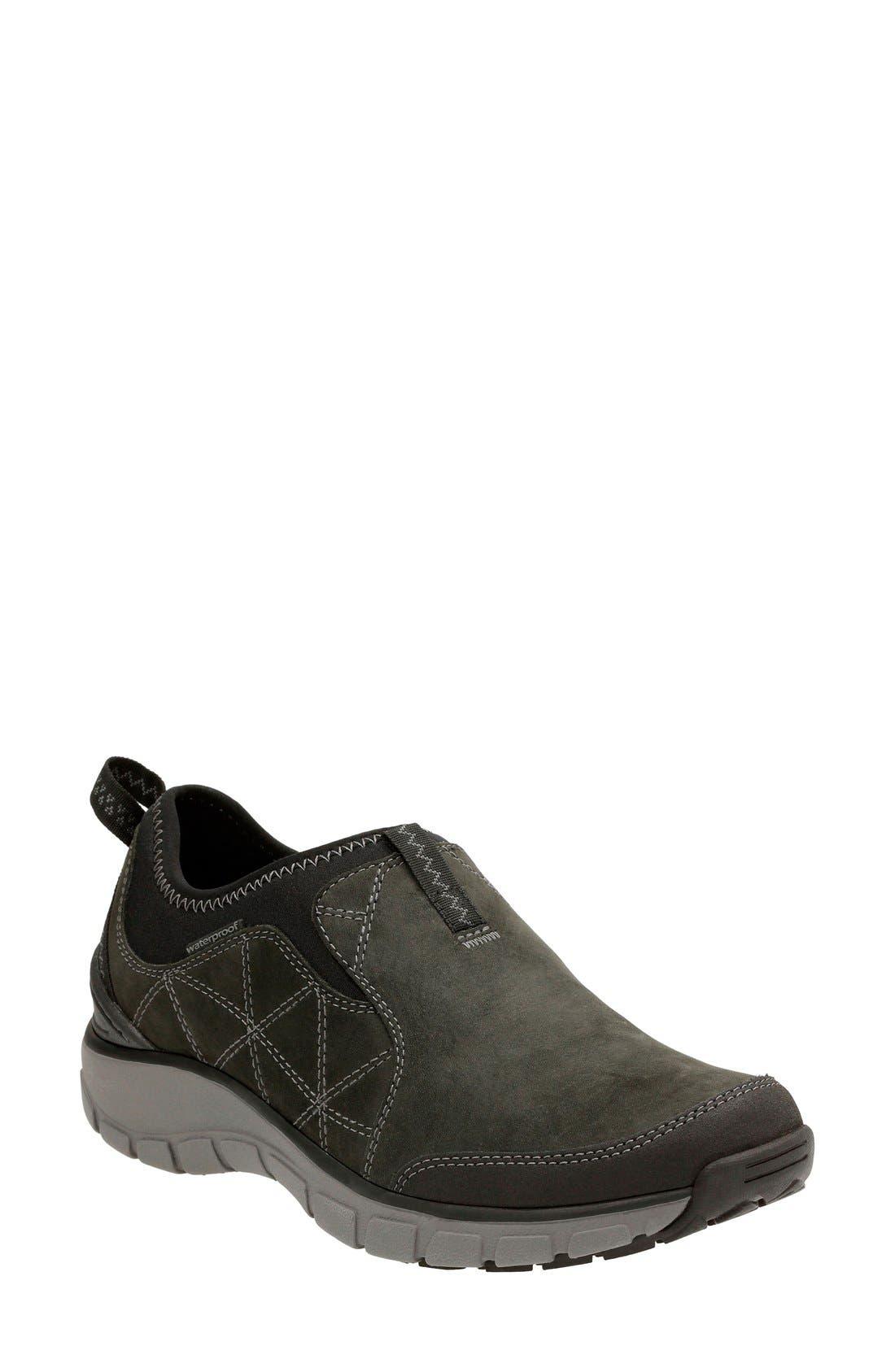 Clarks® 'Wave Slide' Waterproof Slip-On Sneaker (Women)