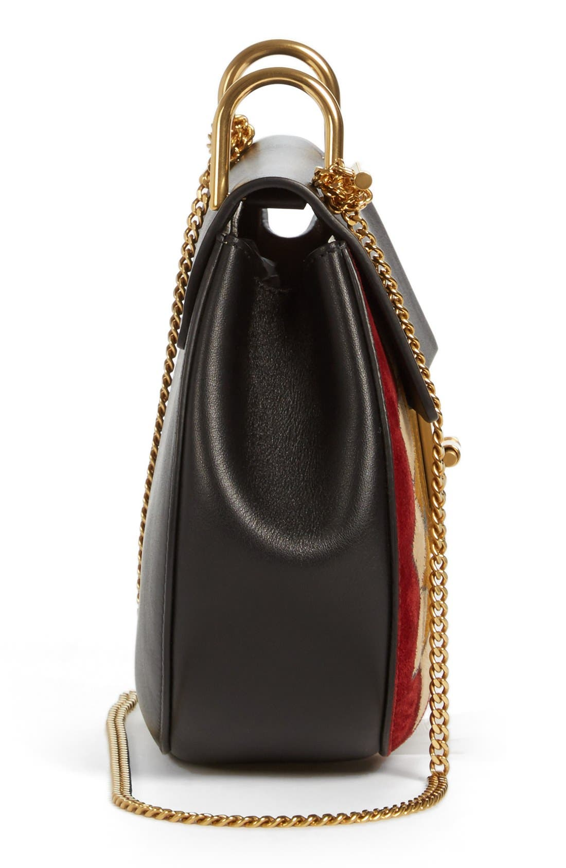 Alternate Image 5  - Chloé 'Small Drew' Wonder Woman Patchwork Suede & Leather Shoulder Bag