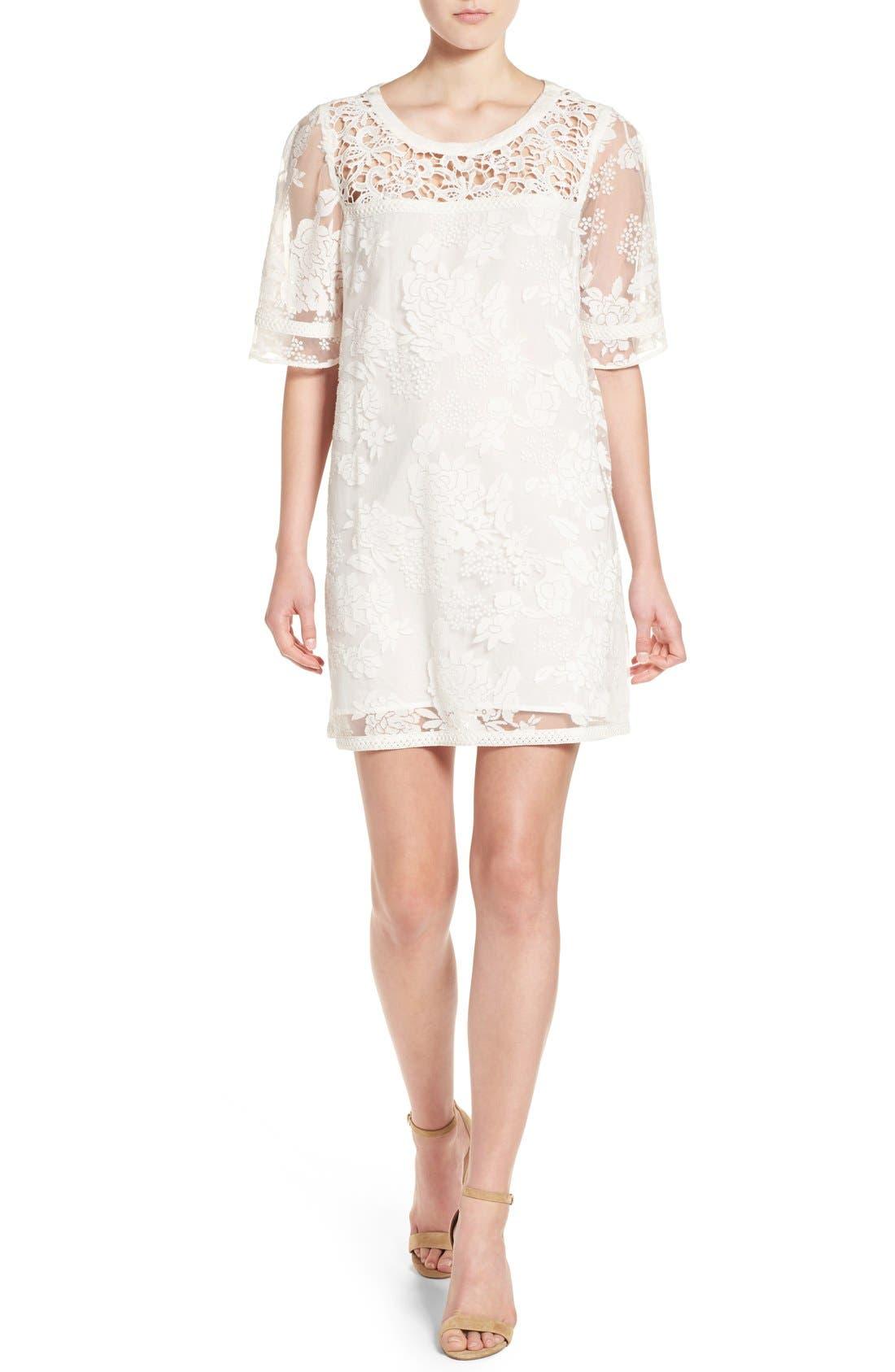 Alternate Image 1 Selected - Catherine Catherine Malandrino 'Mel' Lace Babydoll Dress