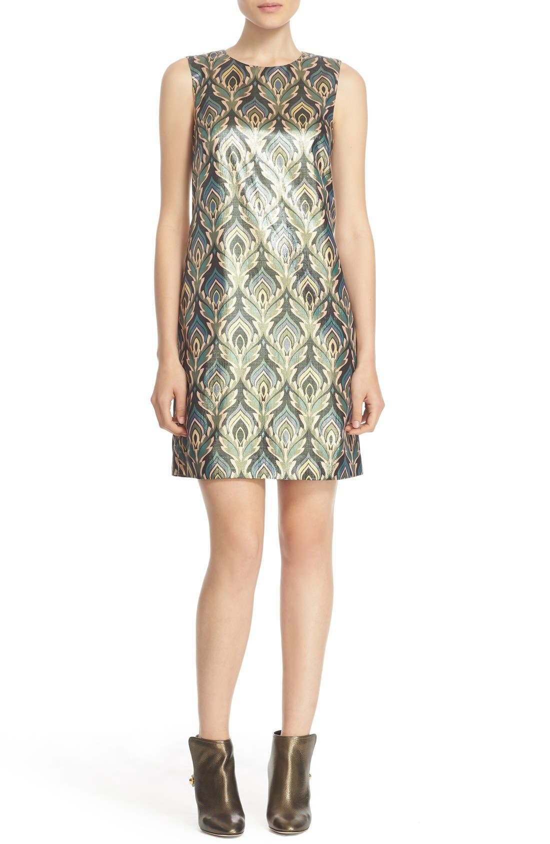 M Missoni 'Flame' Metallic Shift Dress