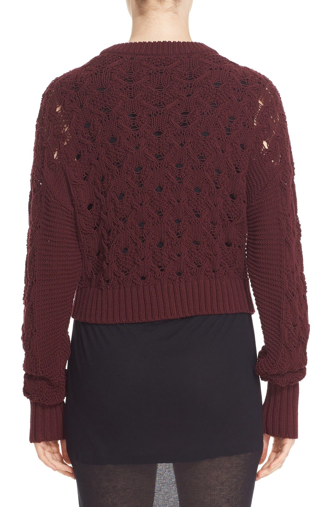 Alternate Image 3  - Public School Cotton Blend Cable Knit Sweater