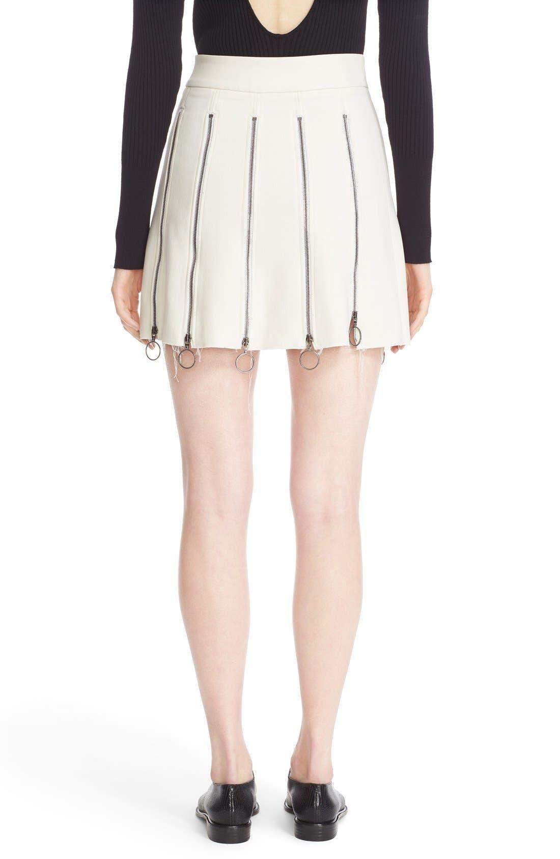 Alternate Image 2  - Etienne Deroeux 'Tania' Zip Detail Miniskirt