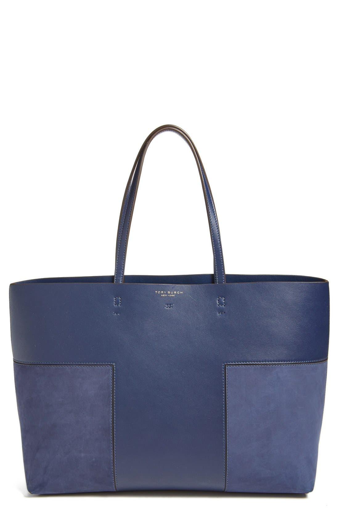 Alternate Image 1 Selected - Tory Burch 'Block T' Leather Tote