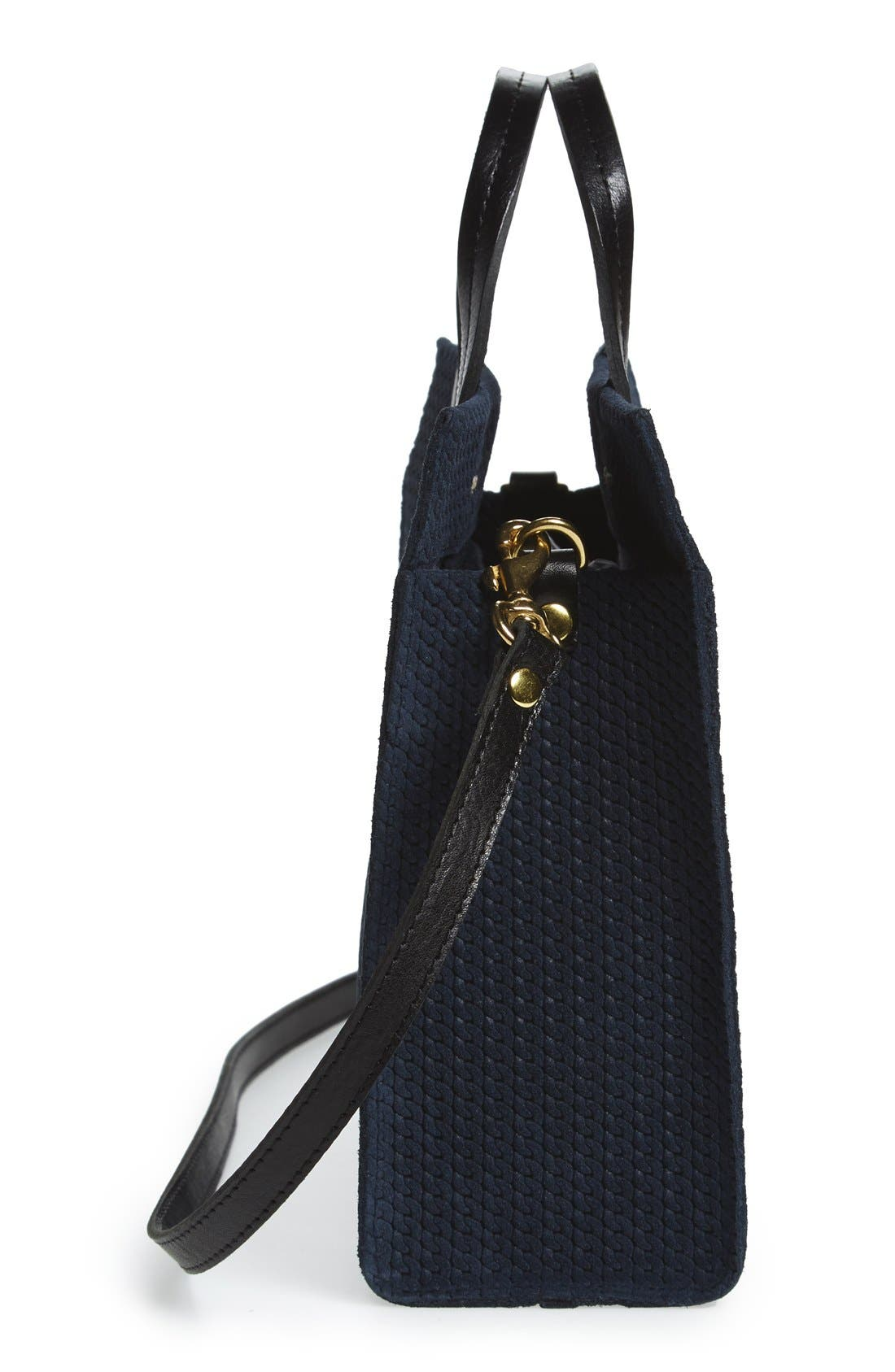 Alternate Image 5  - Clare V. 'Petite Simple - Marine Rope' Woven Suede Tote