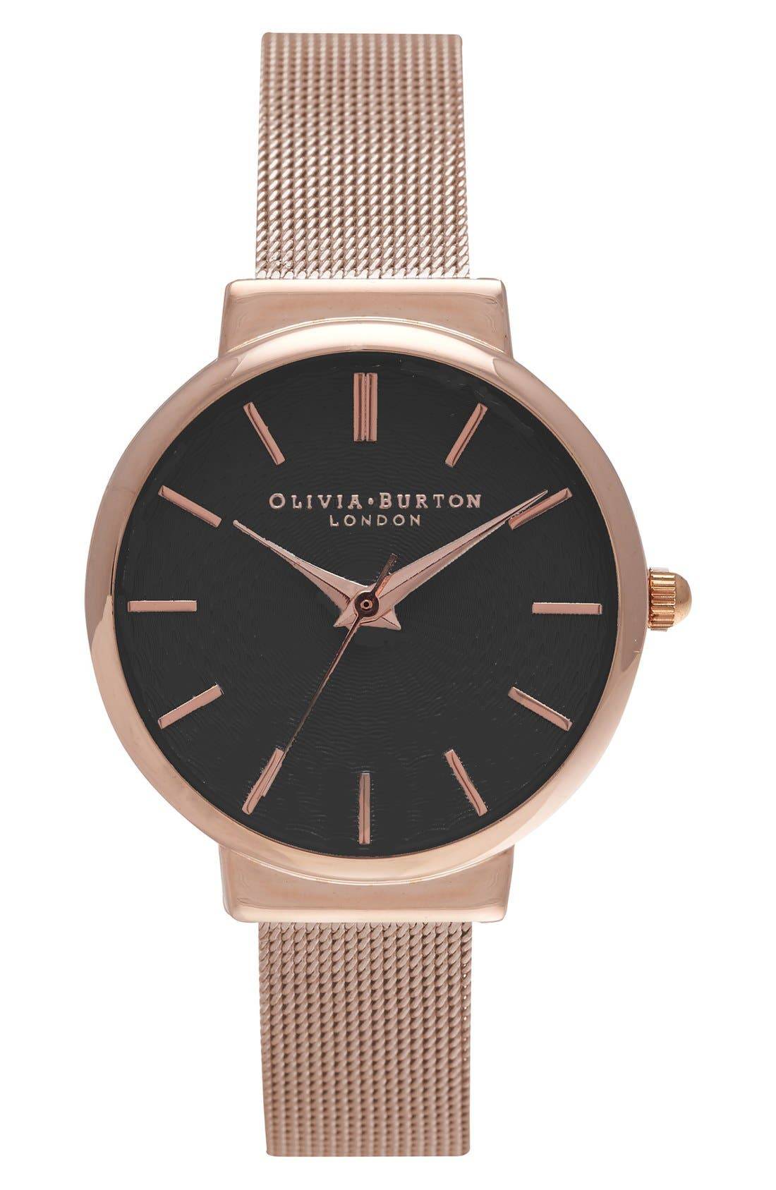 OLIVIA BURTON 'The Hackney' Mesh Strap Watch, 29mm