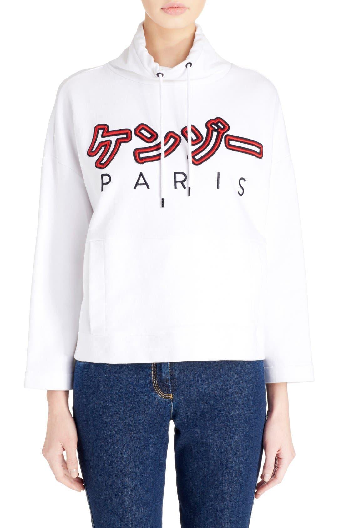 Alternate Image 1 Selected - KENZO Brushed Cotton Molleton Sweatshirt