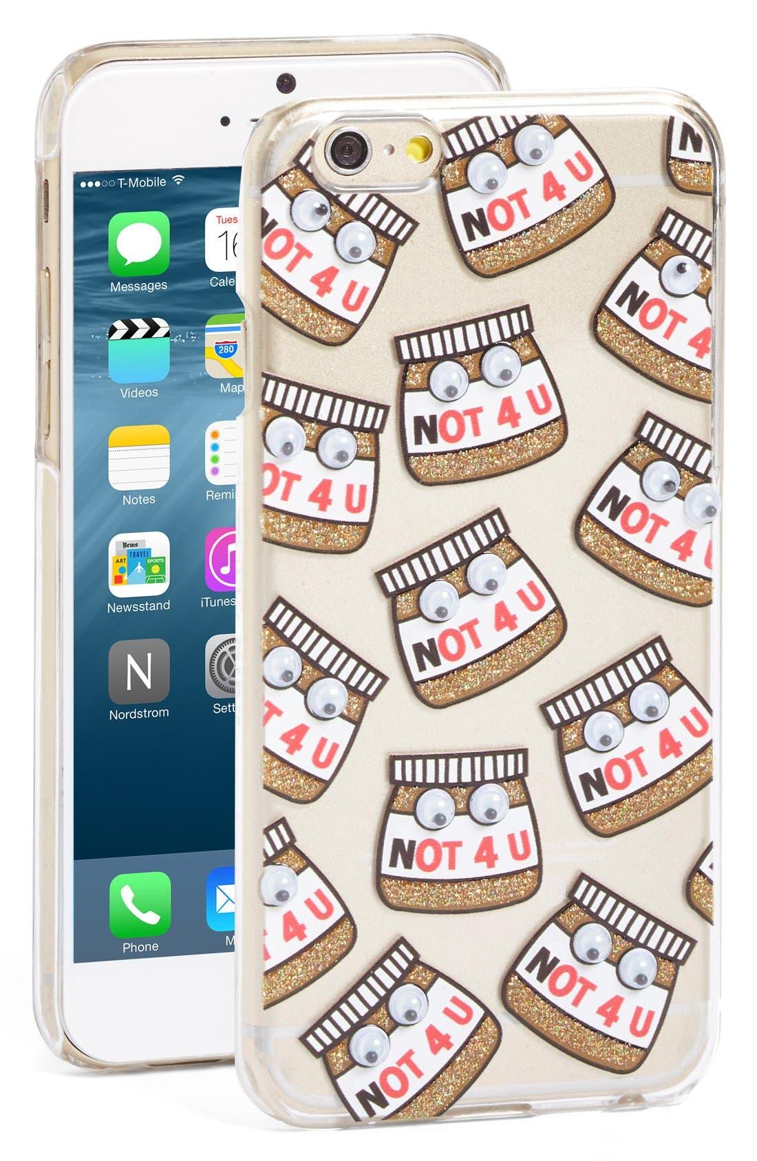 Alternate Image 1 Selected - Skinnydip Not 4 U iPhone 6/6s Case