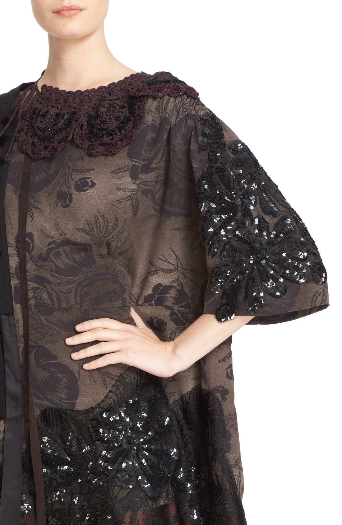 Alternate Image 6  - MARC JACOBS 'Shadow Tulip' Embellished Shift Dress