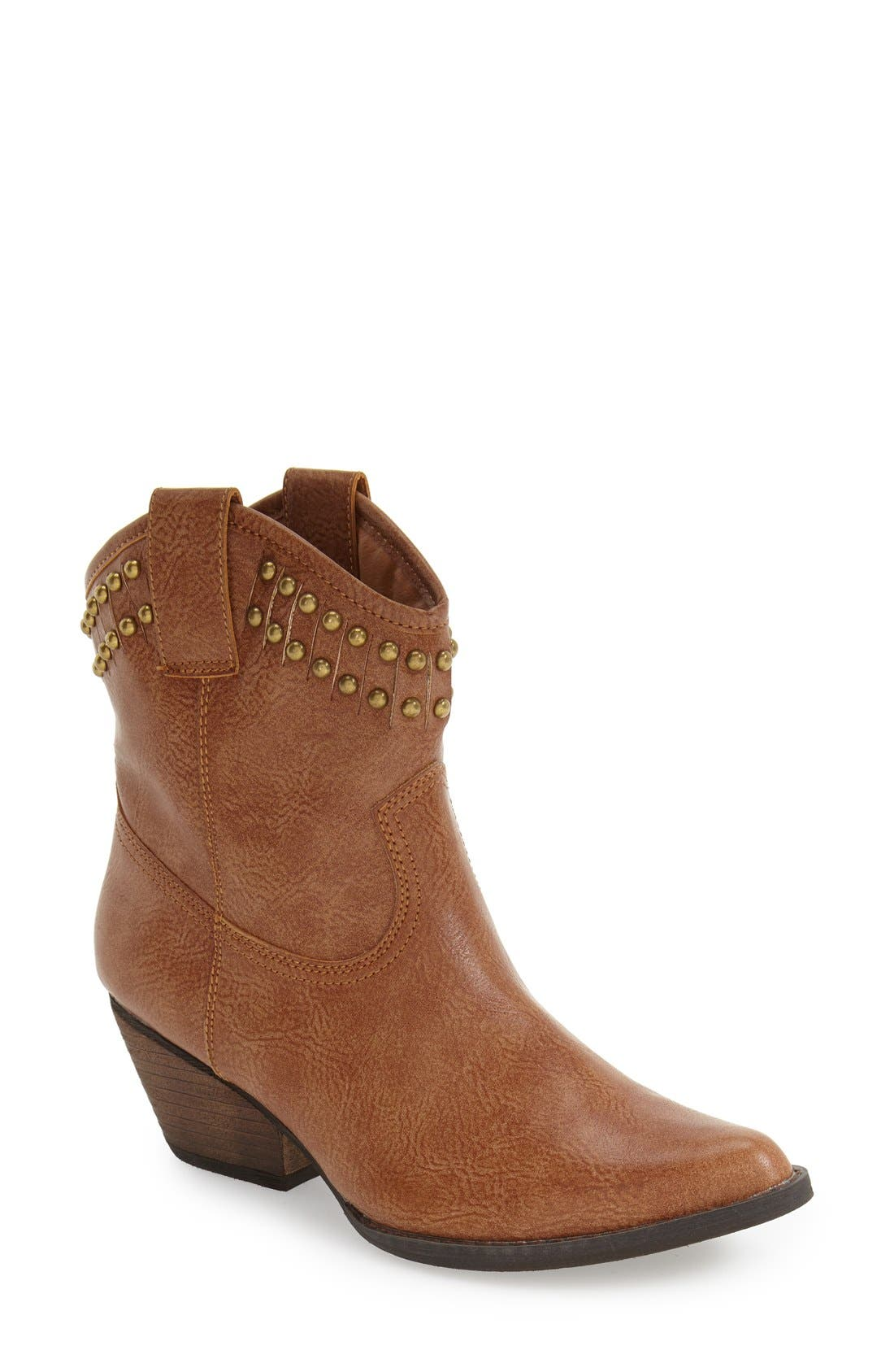 Alternate Image 1 Selected - Very Volatile 'Lunet' Studded Western Bootie (Women)