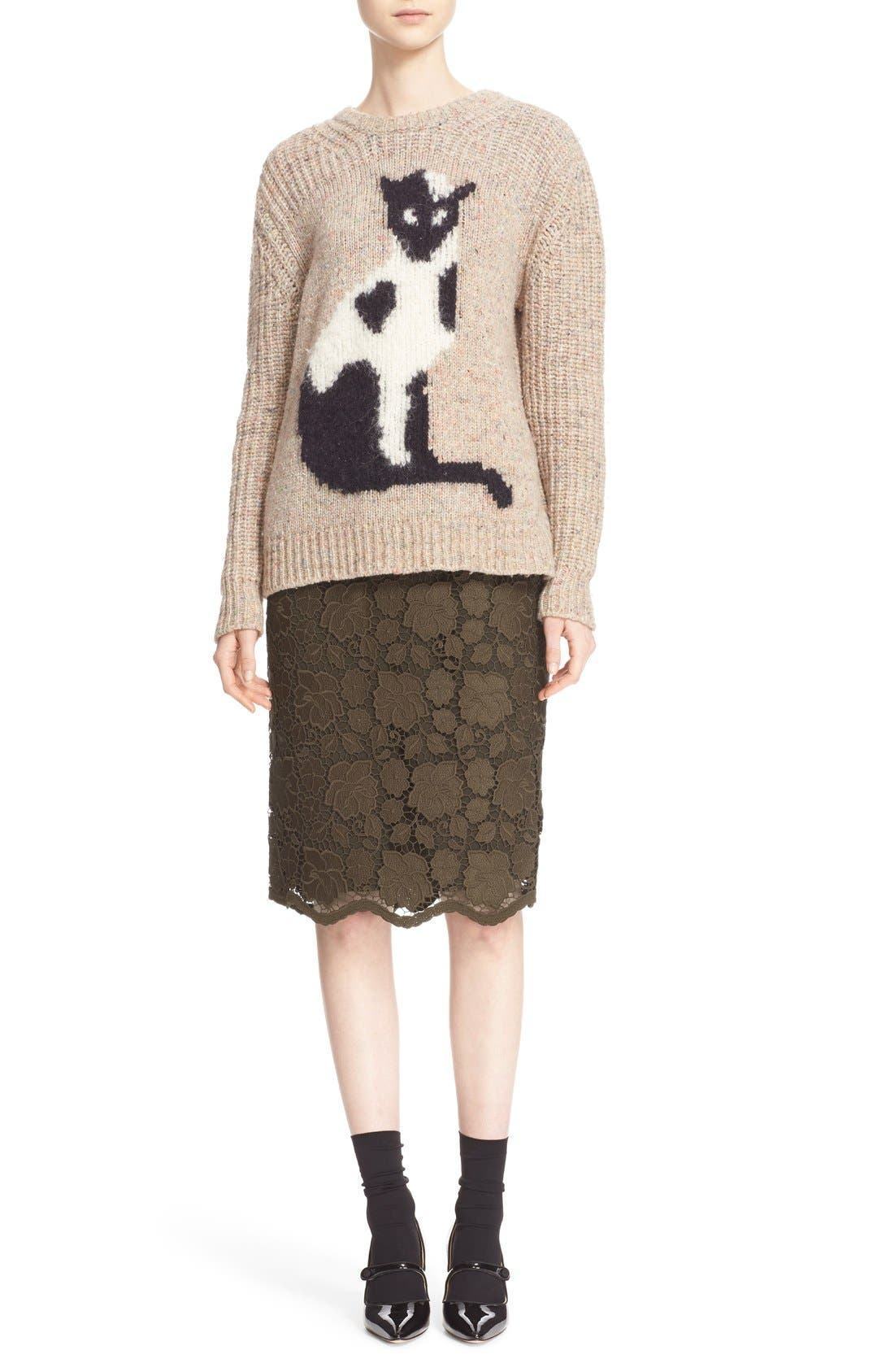 Alternate Image 2  - N°21 Cat Intarsia Knit Sweater