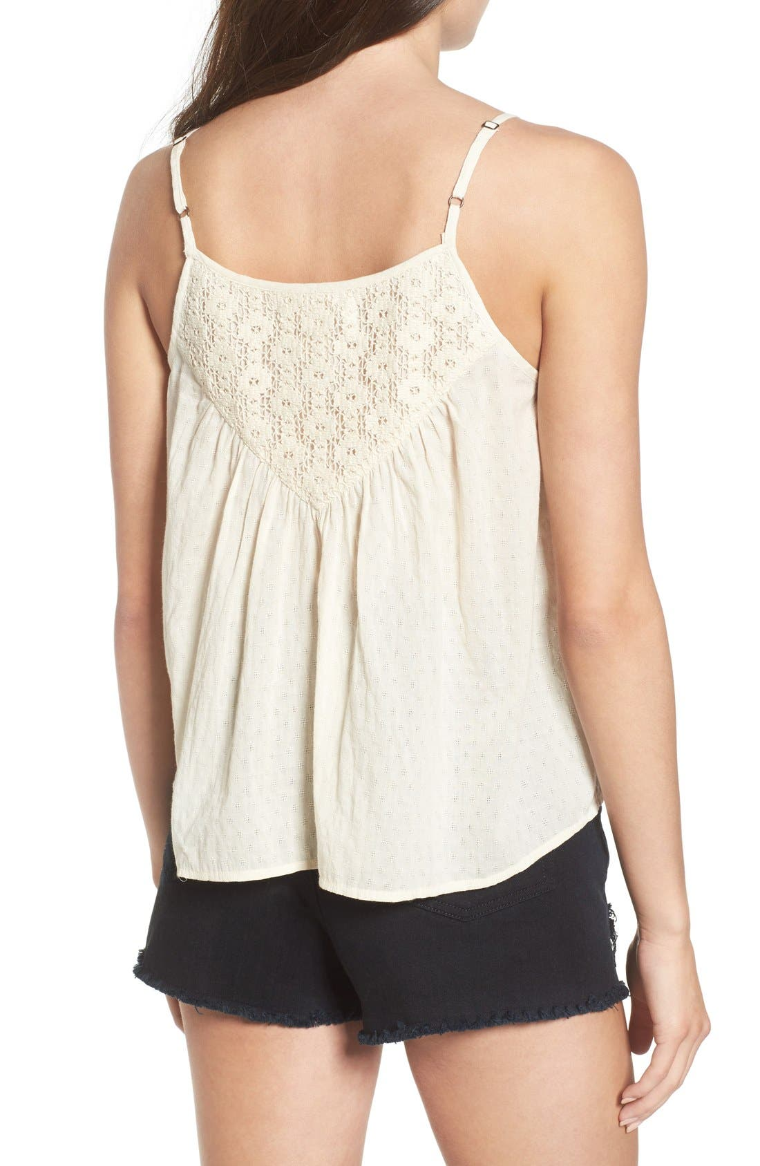 Alternate Image 2  - Band of Gypsies Embroidered Woven Tank