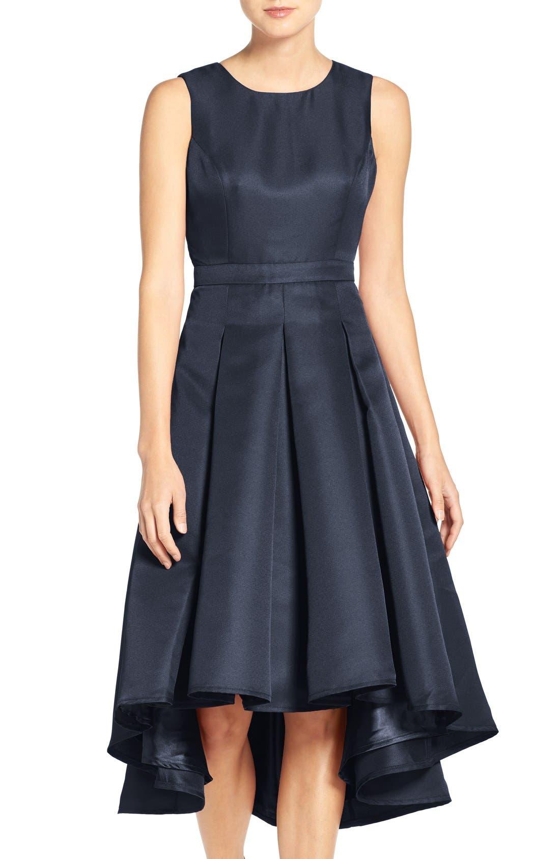 LULUS Cutout Back Tea Length High/Low Dress