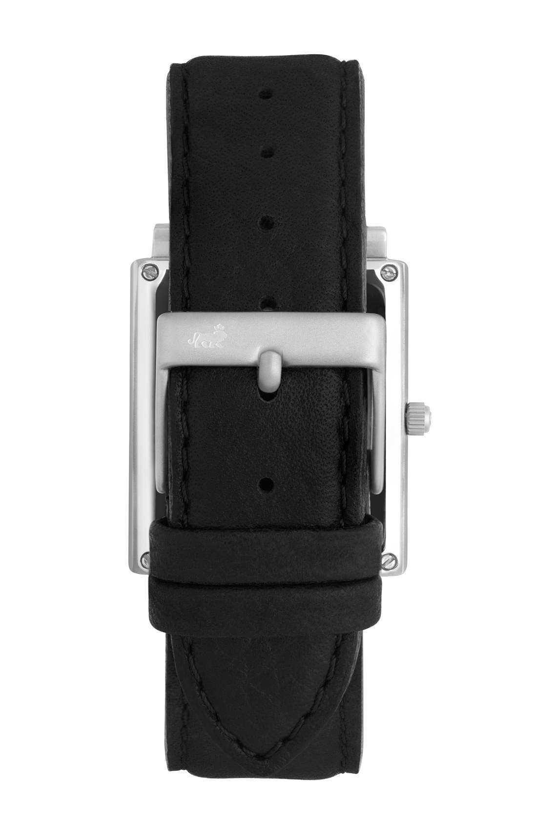 Alternate Image 2  - Larsson & Jennings 'Norse' Rectangular Leather Strap Watch, 29mm x 40mm