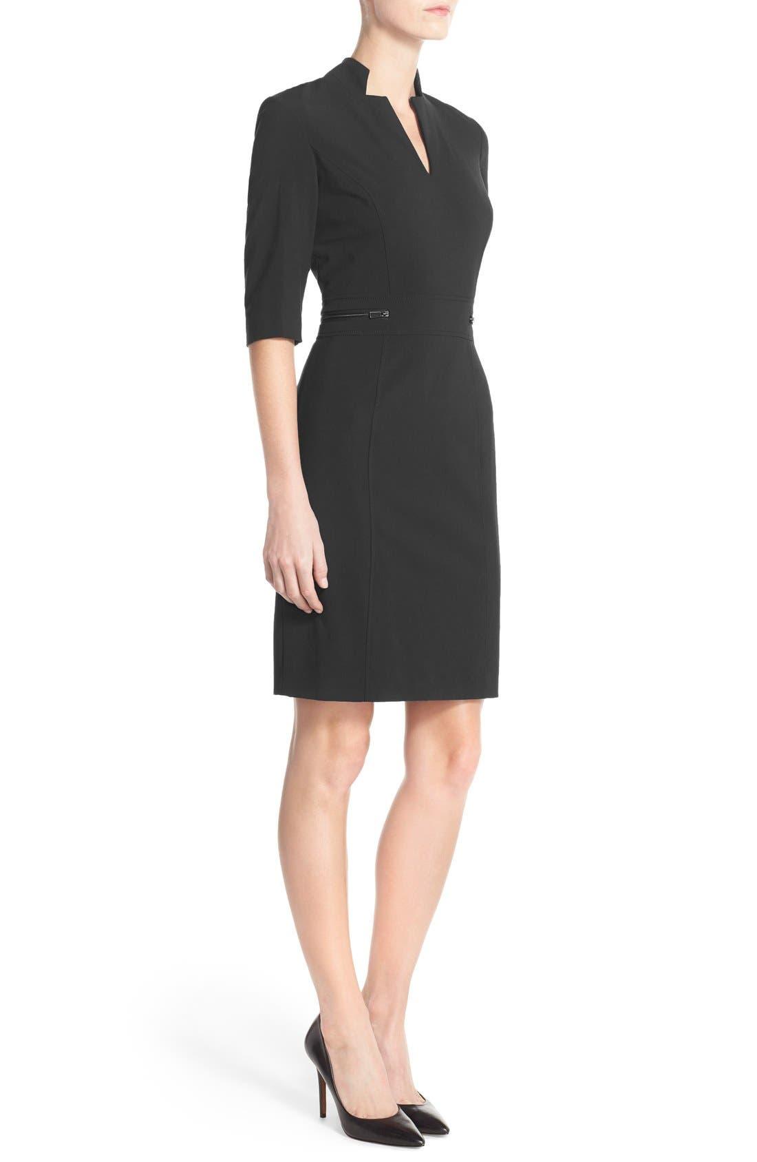Alternate Image 3  - TahariBi-Stretch Sheath Dress (Regular & Petite)