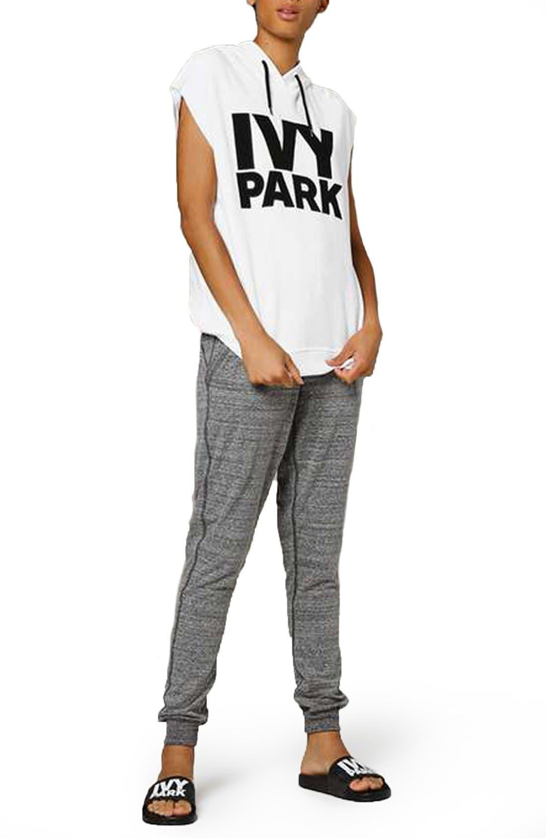Alternate Image 2  - IVY PARK® Raw Hem Peached Logo Sleeveless Hoodie