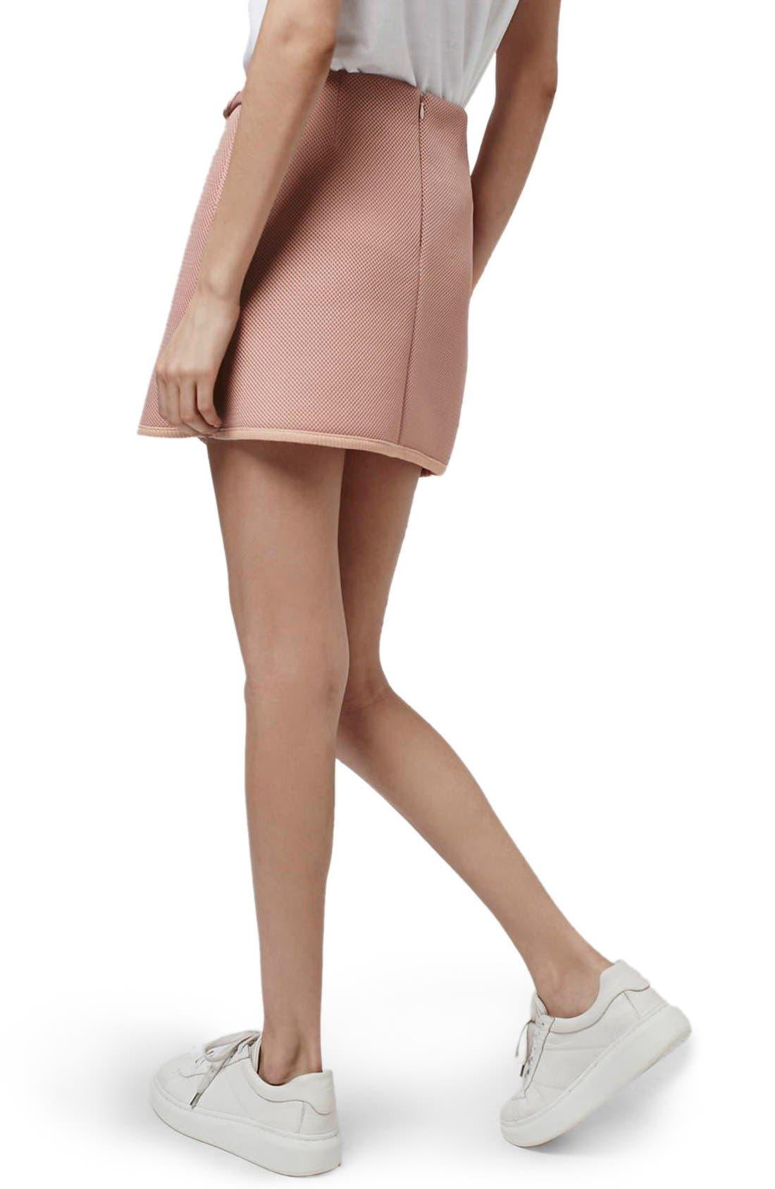 Alternate Image 3  - Topshop Airtex Wrap Miniskirt