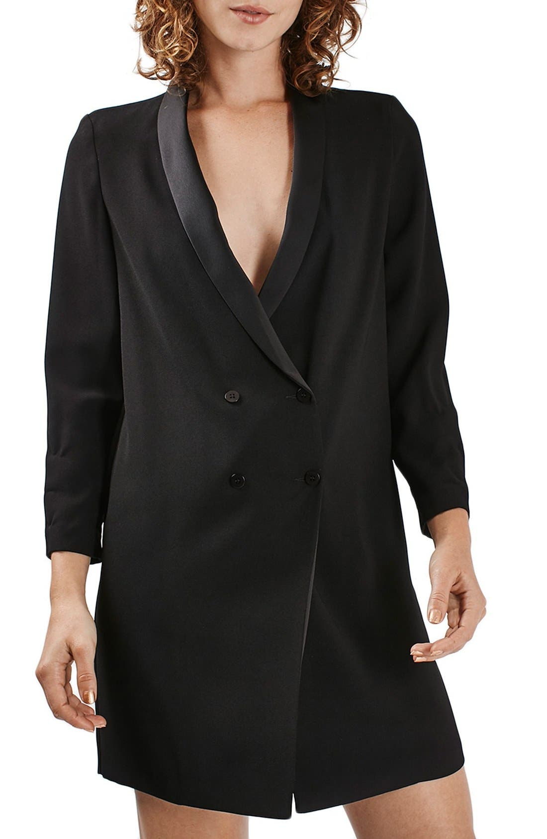 Alternate Image 1 Selected - Topshop Slouchy Longline Blazer
