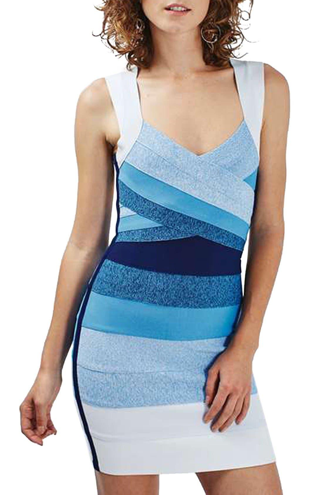 Alternate Image 3  - Topshop Ombré Bandage Body-Con Dress