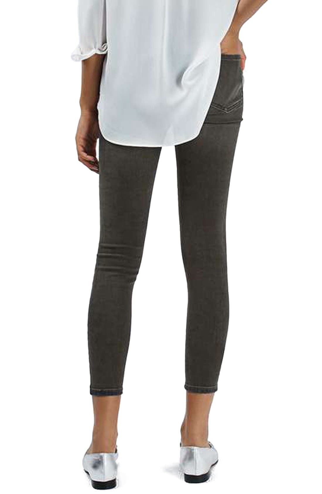 Alternate Image 3  - Topshop 'Jamie' Washed Super Ripped Skinny Jeans (Petite)