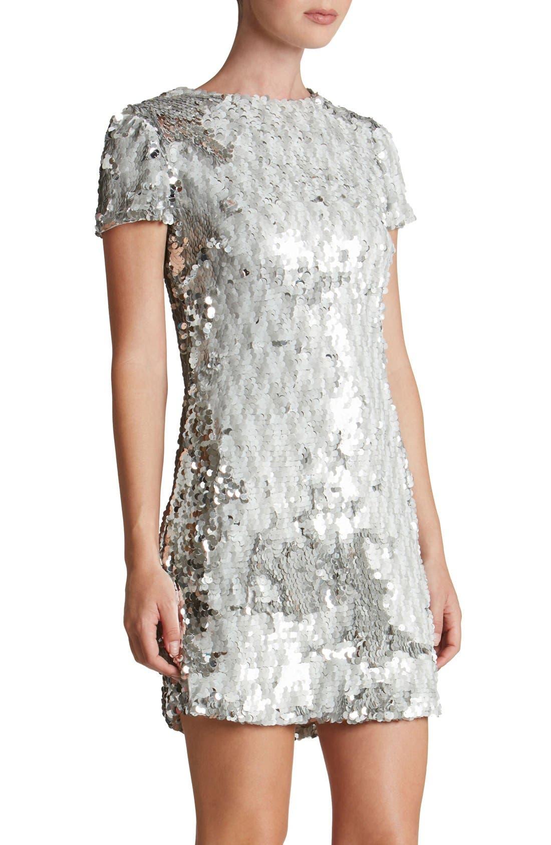 Alternate Image 4  - Dress the Population 'Ellen' Sequin Sheath Dress