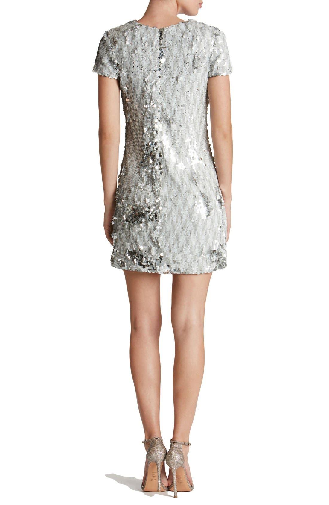Alternate Image 2  - Dress the Population 'Ellen' Sequin Sheath Dress