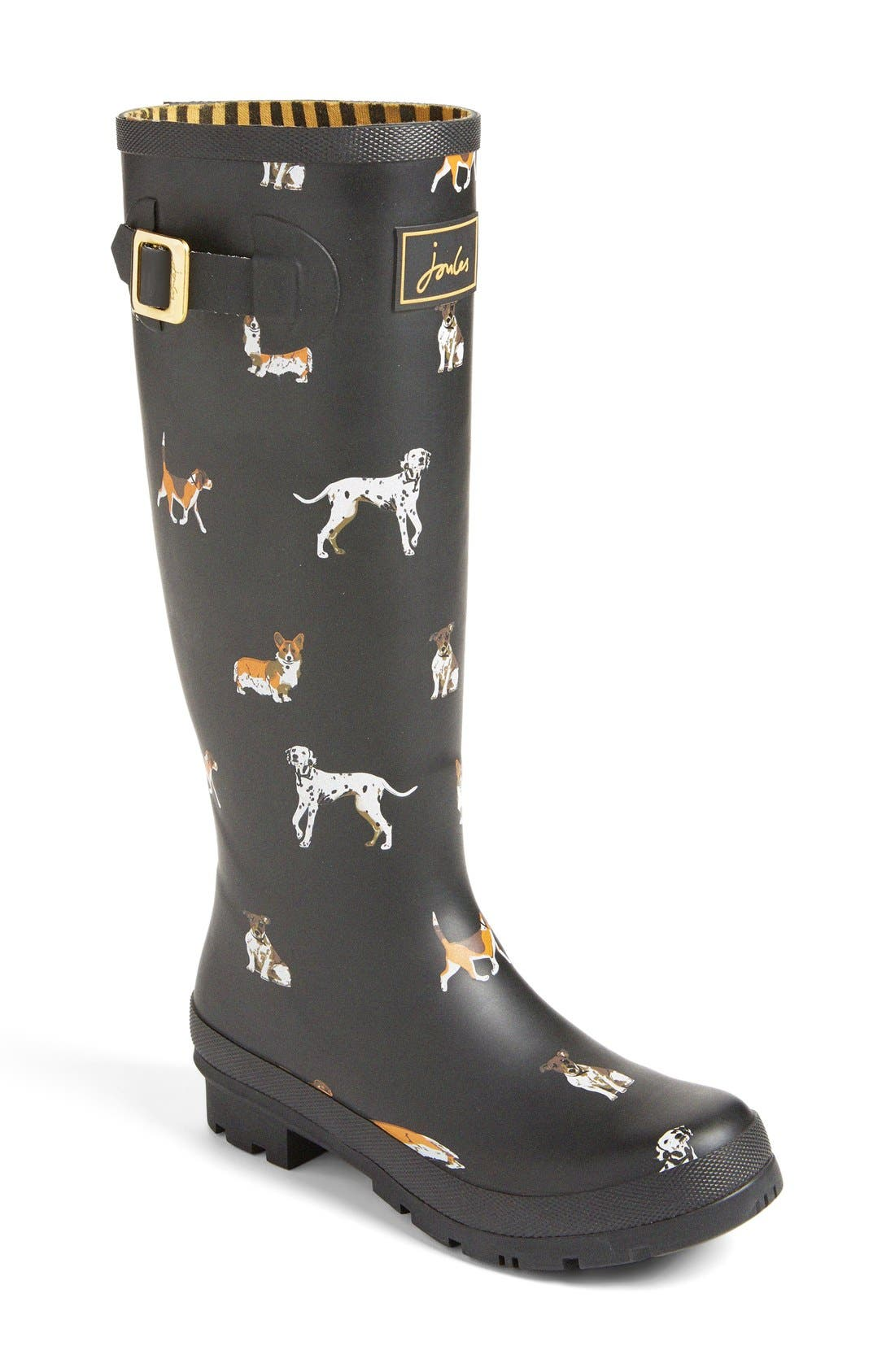 Alternate Image 1 Selected - Joules 'Welly' Print Rain Boot (Women)