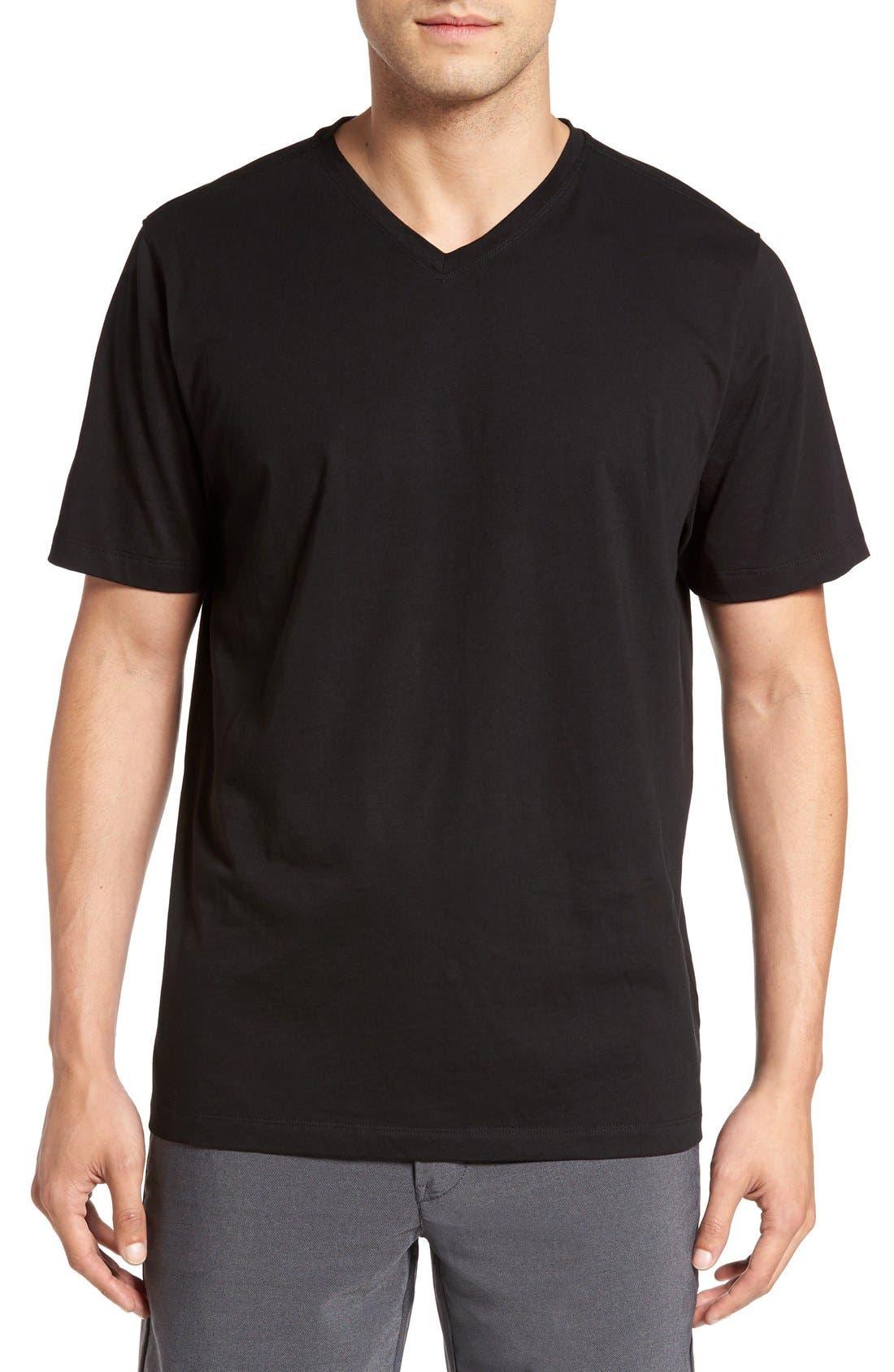 Main Image - Cutter & Buck 'Sida' V-Neck T-Shirt (Big & Tall)