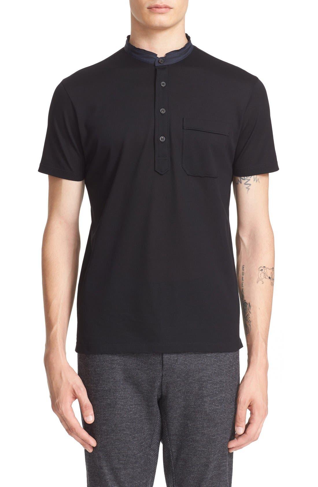 Alternate Image 1 Selected - Lanvin Band Collar Cotton Piqué Polo