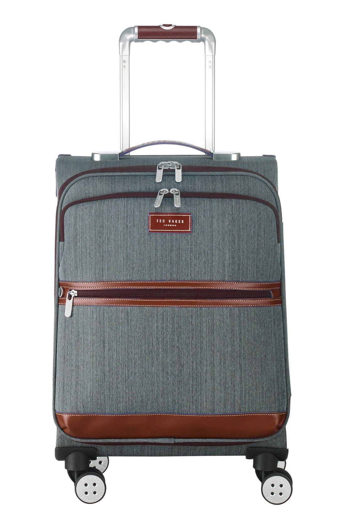 Ted Baker London 'Small Falconwood Grey' Four Wheel Suitcase (22 Inch)
