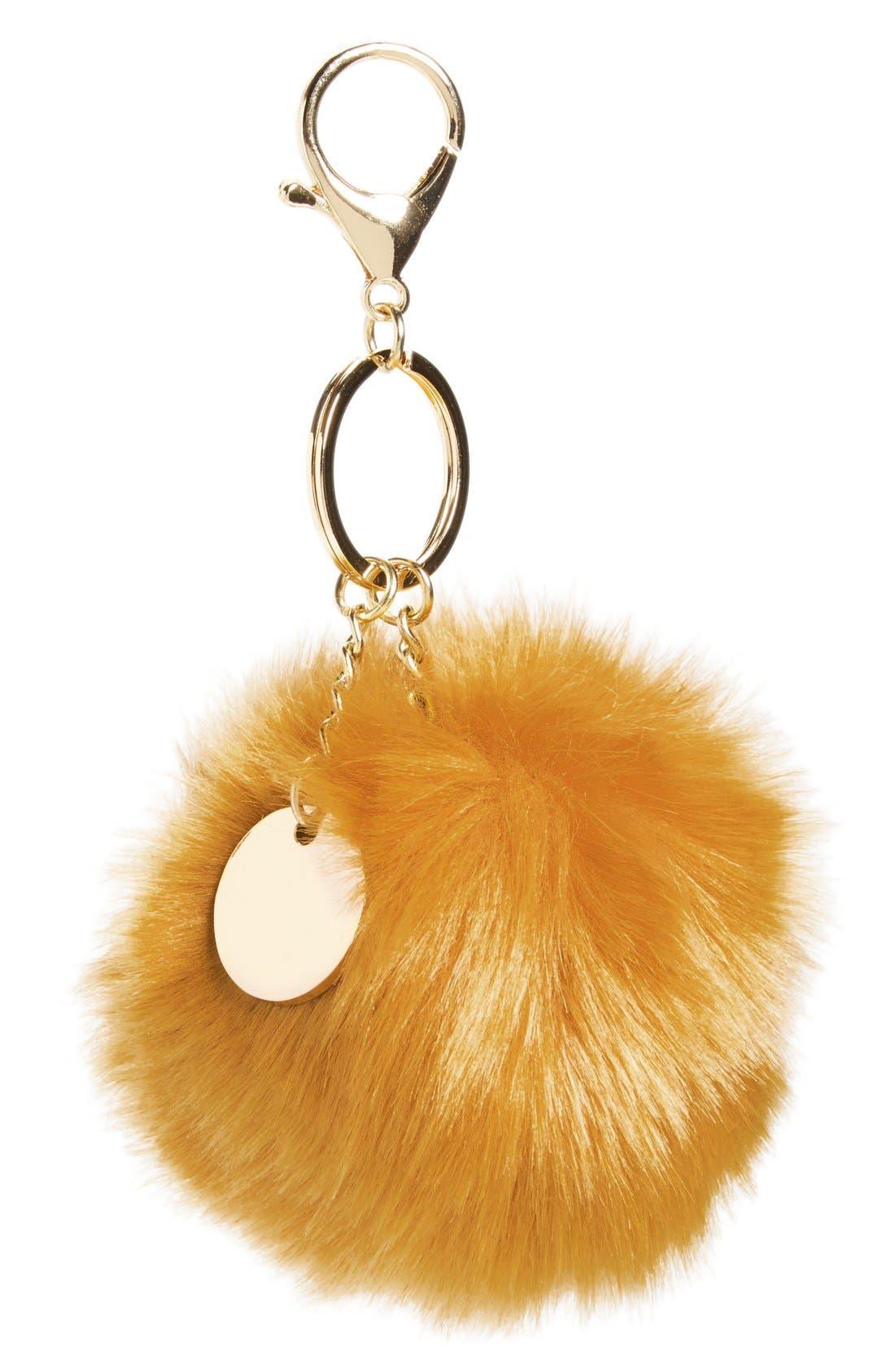 Main Image - Topshop Faux Fur Fluffy Bag Charm