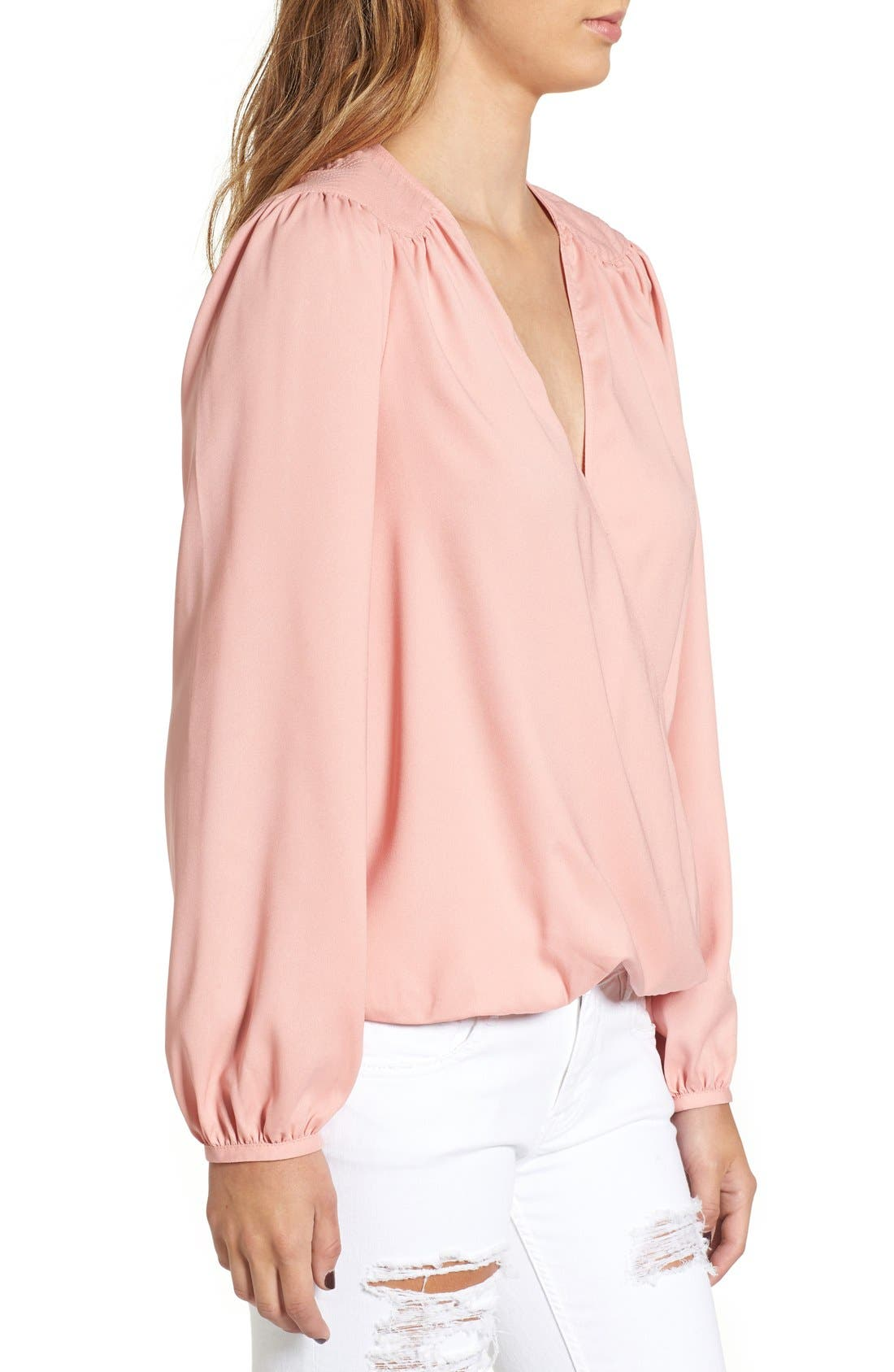 Alternate Image 3  - Leith Wrap Front Blouse