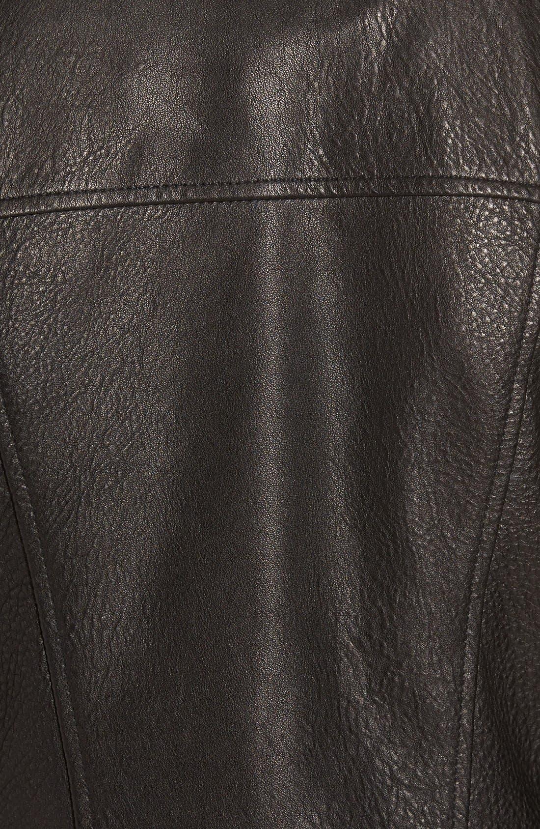 Alternate Image 5  - Andrew Marc 'Riley' Textured Leather Moto Jacket