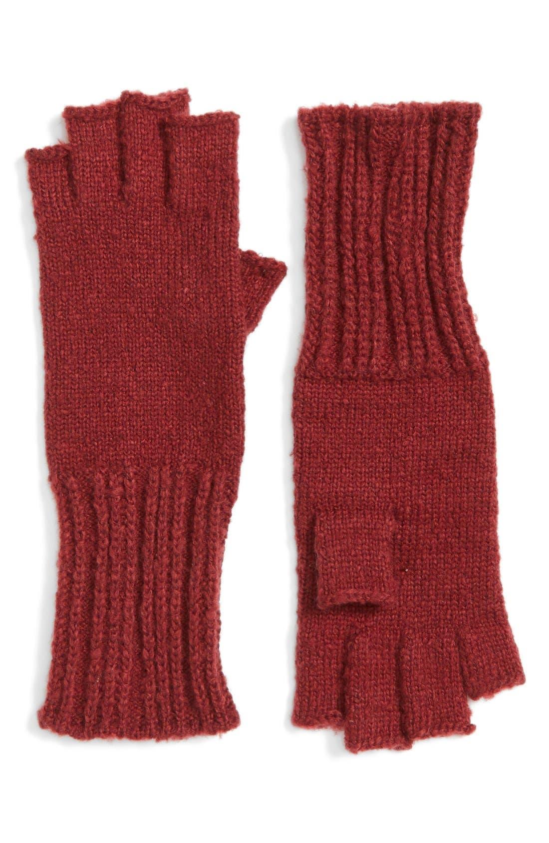 Alternate Image 1 Selected - Caslon® Knit Fingerless Gloves