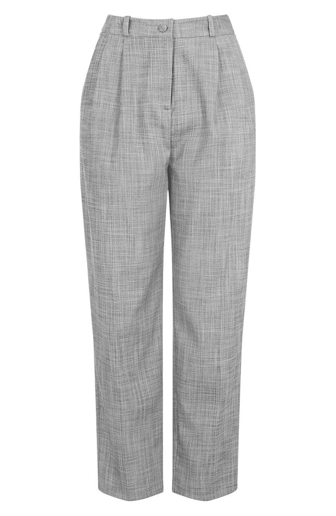 Alternate Image 4  - Topshop Crosshatch Crop Trousers