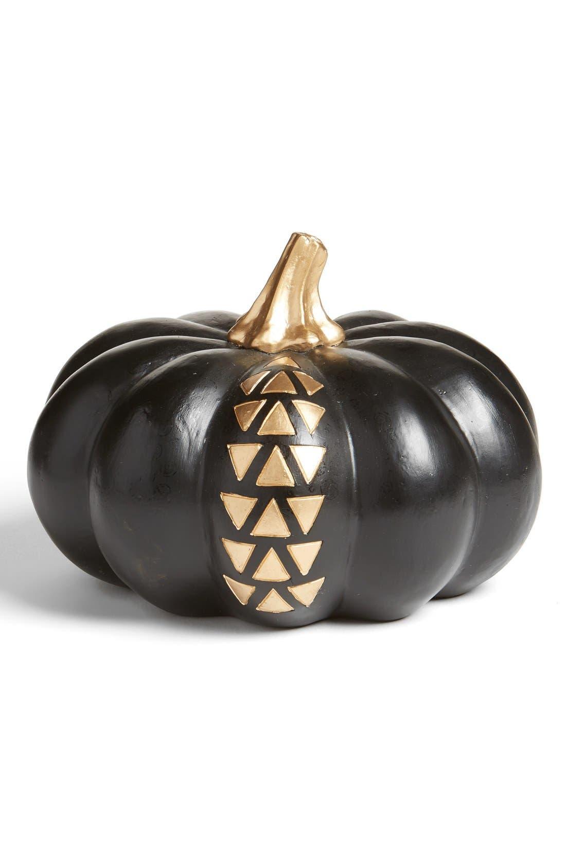 Alternate Image 1 Selected - Levtex Black & Gold Pumpkin Decoration