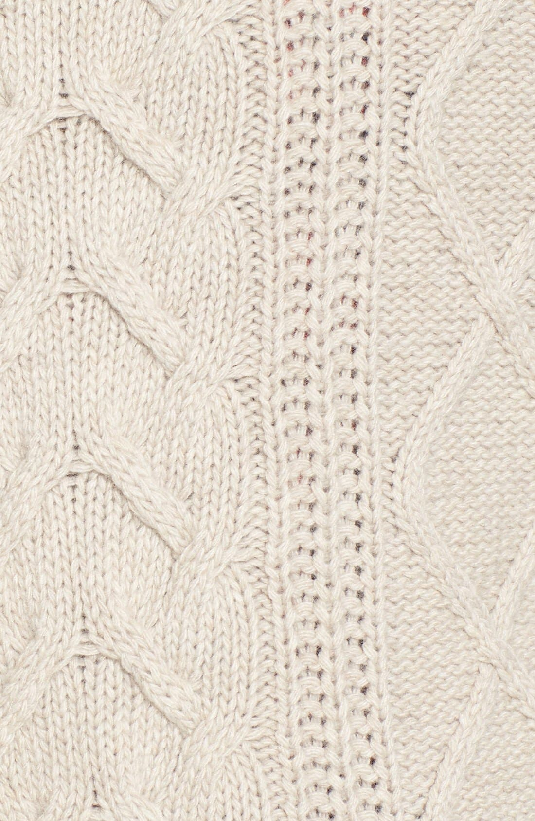 Alternate Image 5  - Barbour 'Tidewater' Cable Knit Crewneck Sweater