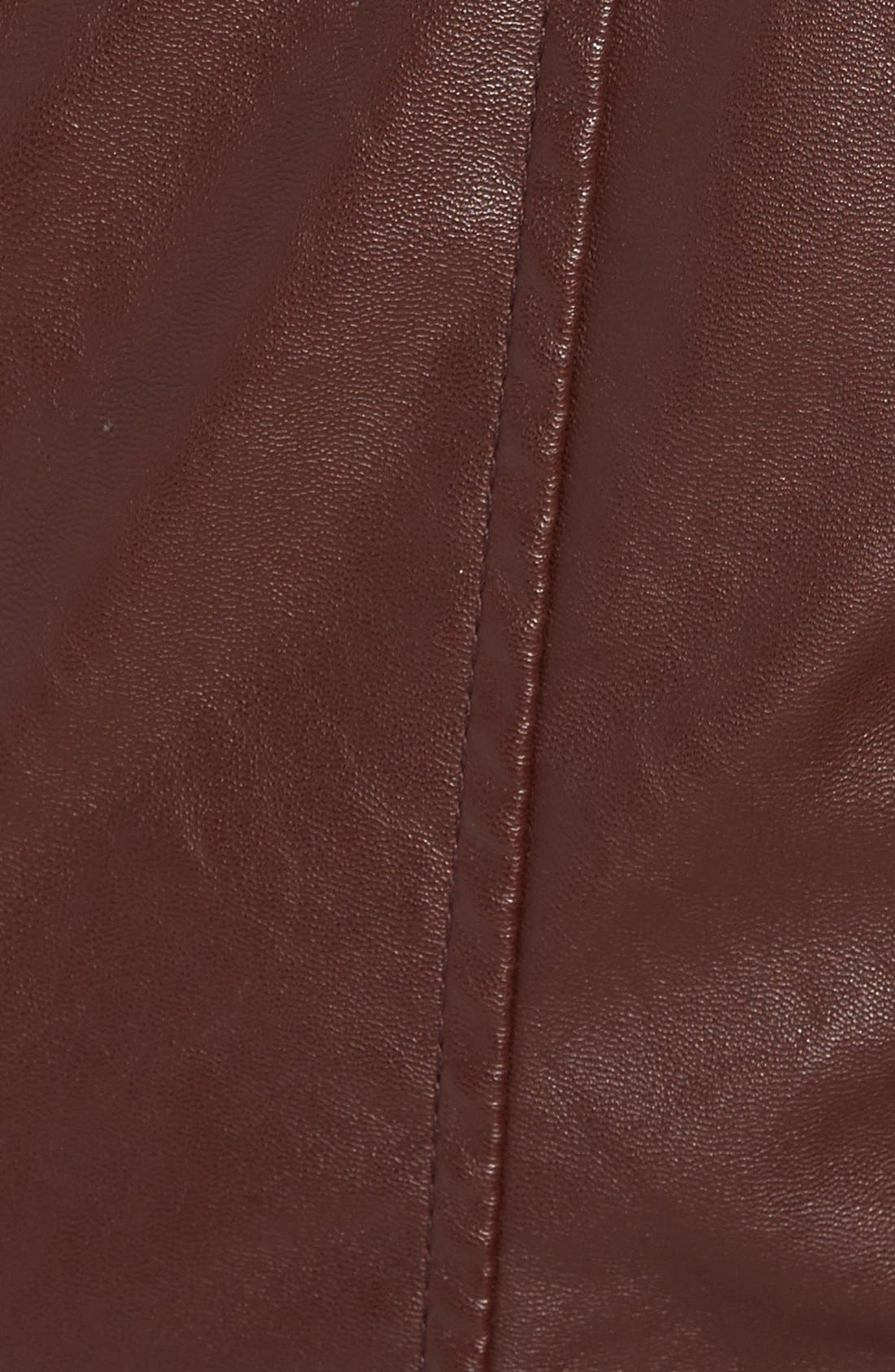 Alternate Image 5  - BLANKNYC Quilted Faux Leather Moto Jacket