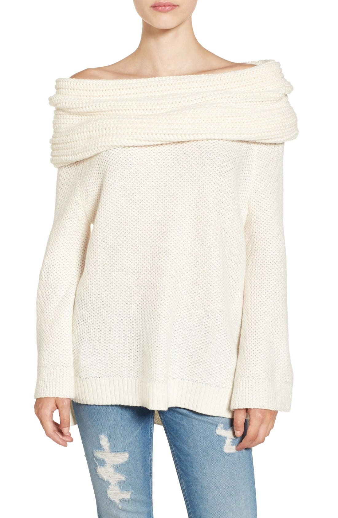 Alternate Image 1 Selected - Sun & Shadow Cowl Off the Shoulder Sweater