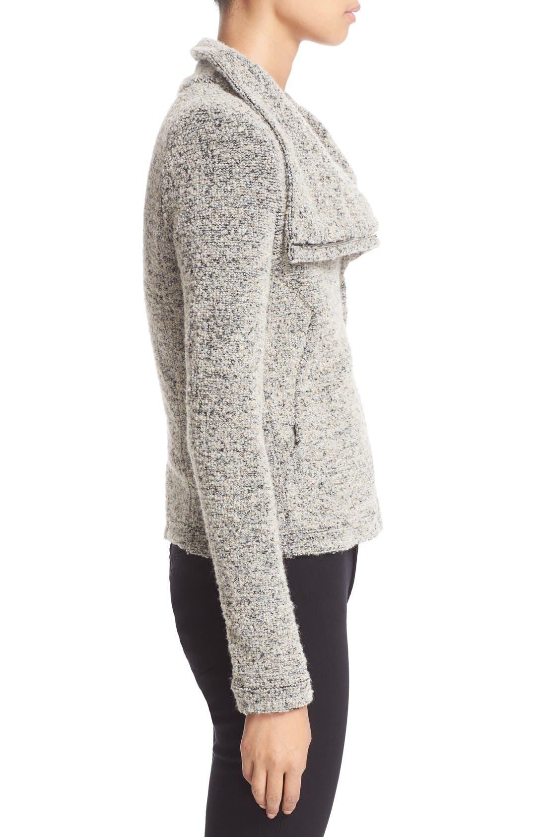 Alternate Image 3  - IRO Drape Front Bouclé Knit Jacket