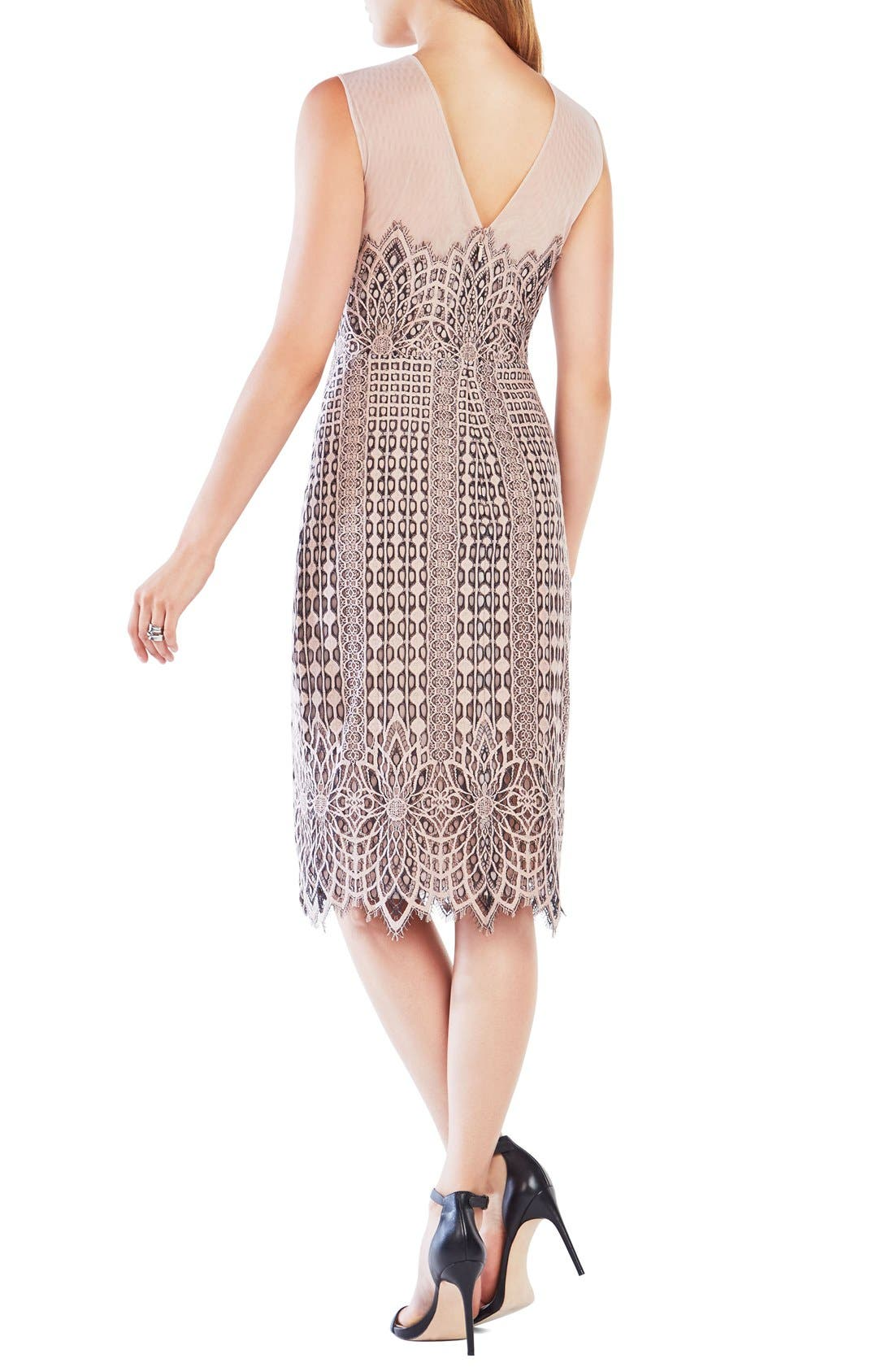 Alternate Image 2  - BCBGMAXAZRIA 'Belila' Lace Midi Dress