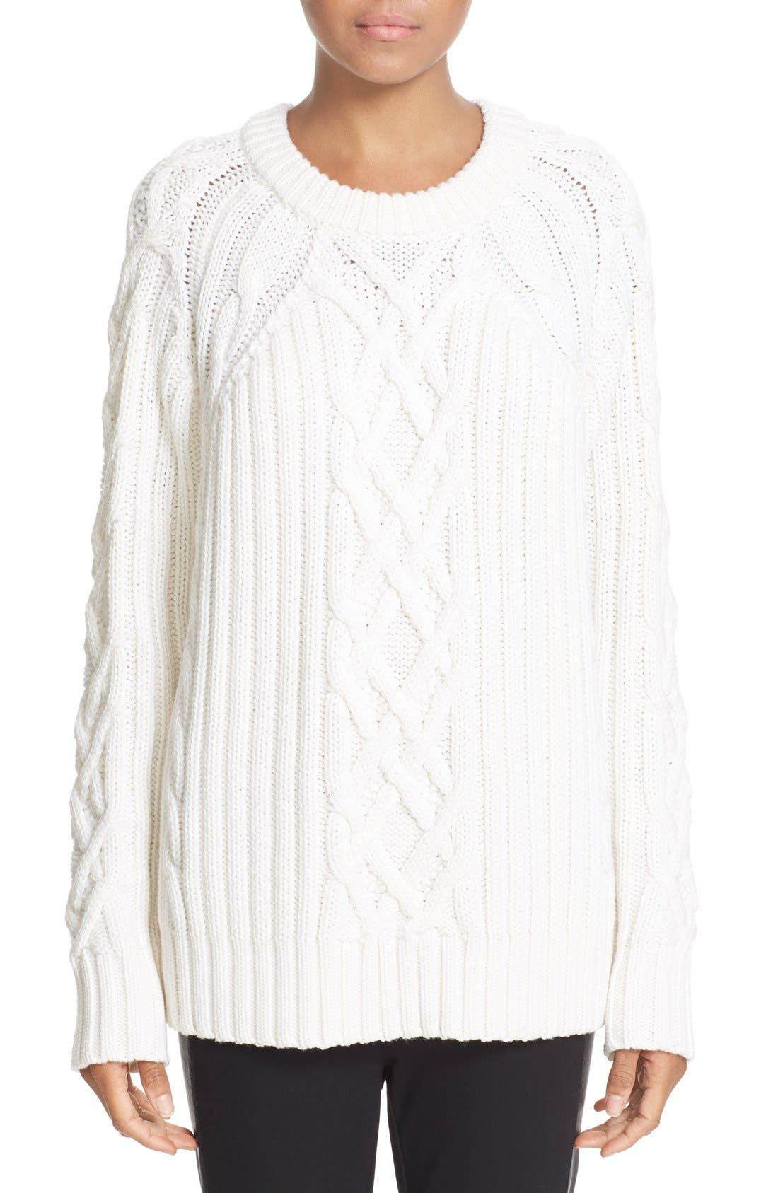 Alternate Image 1 Selected - rag & bone 'Kiera' Cable Knit Crewneck Sweater