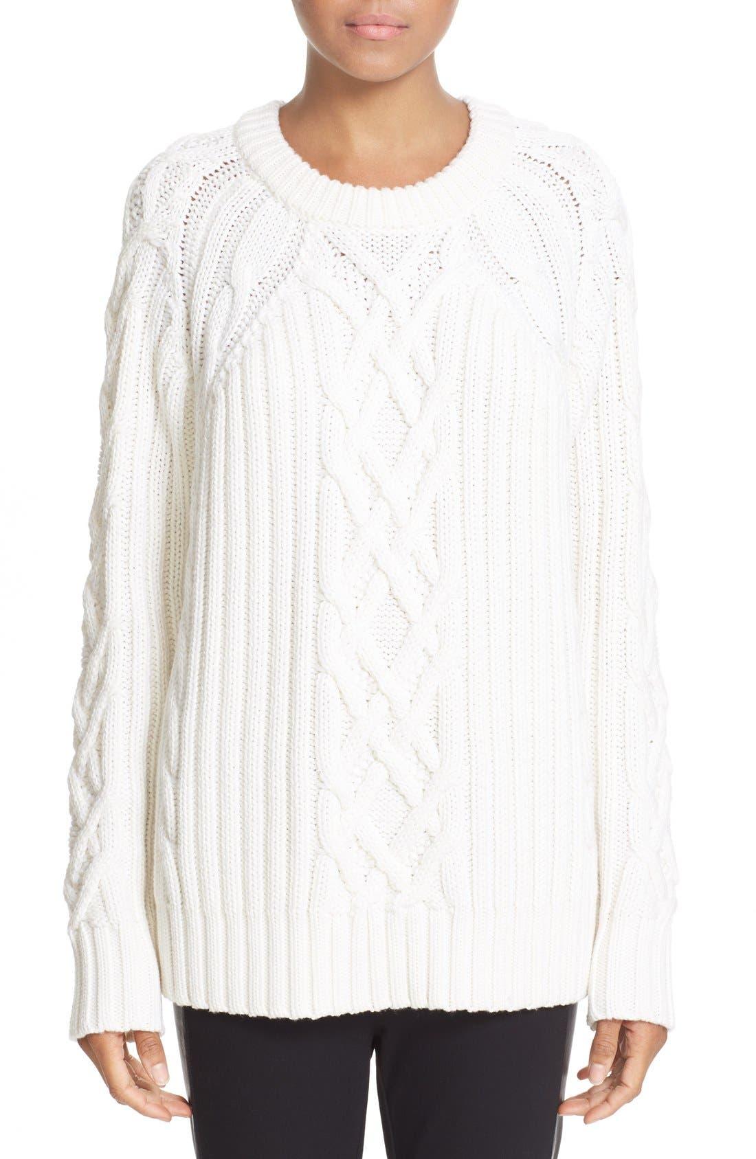 Main Image - rag & bone 'Kiera' Cable Knit Crewneck Sweater