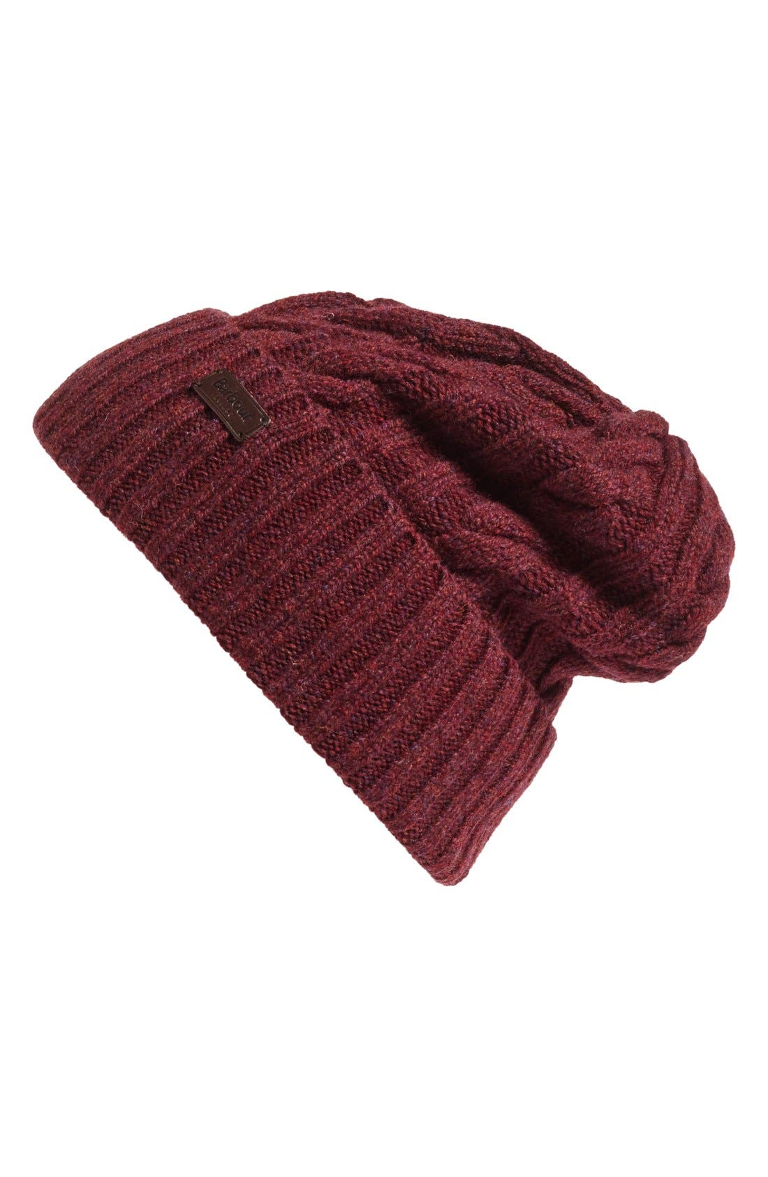 Alternate Image 1 Selected - Barbour Lambswool Cable Knit Hat