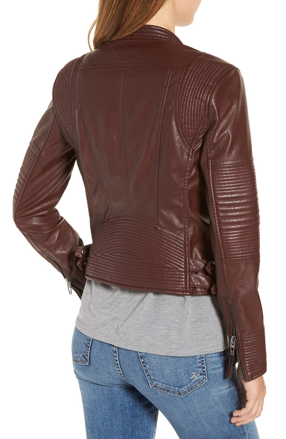 Alternate Image 2  - BLANKNYC Quilted Faux Leather Moto Jacket