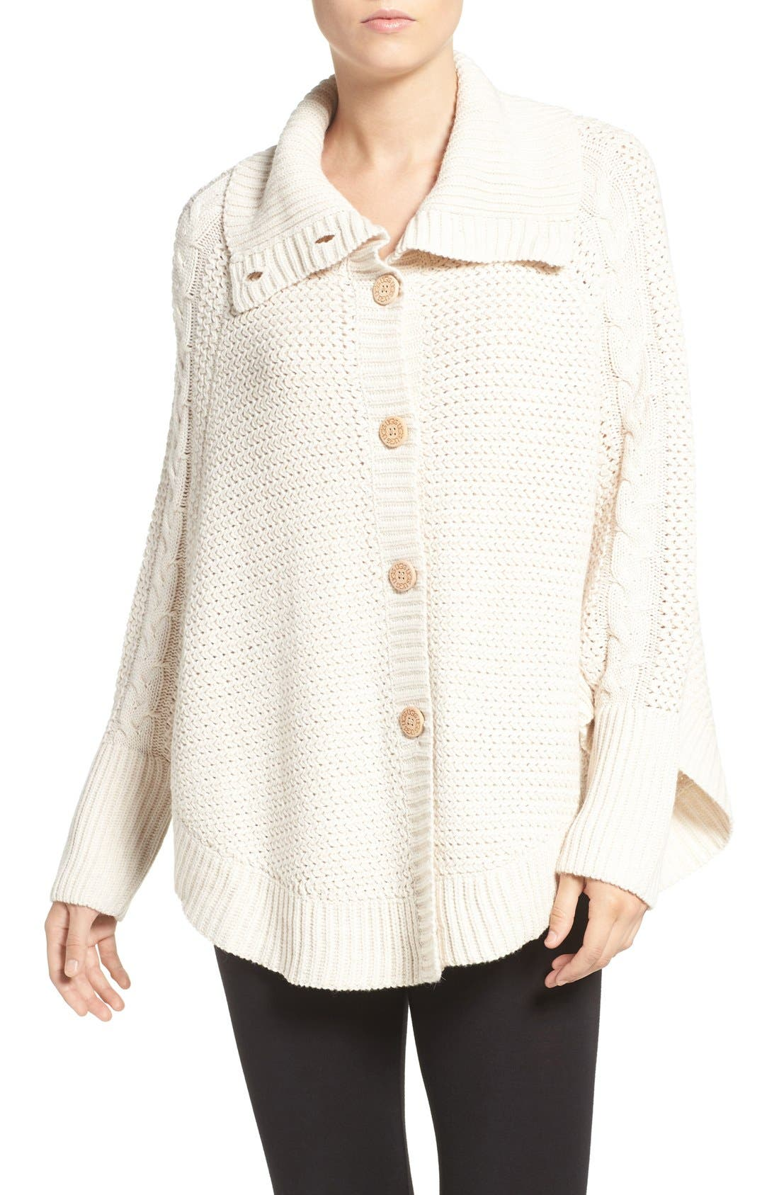 Alternate Image 1 Selected - UGG® 'Maribeth' Cable Knit Cocoon Sweater