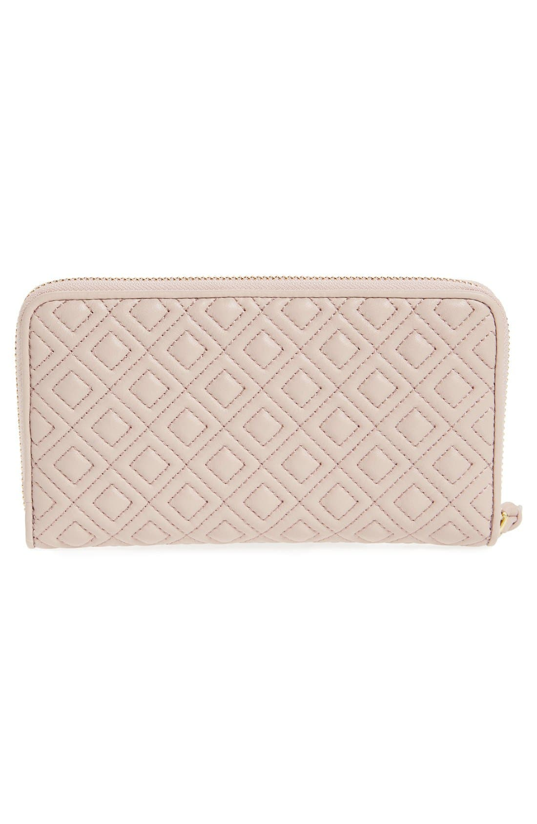 Alternate Image 4  - Tory Burch 'Fleming' Quilted Lambskin Leather Continental Wallet