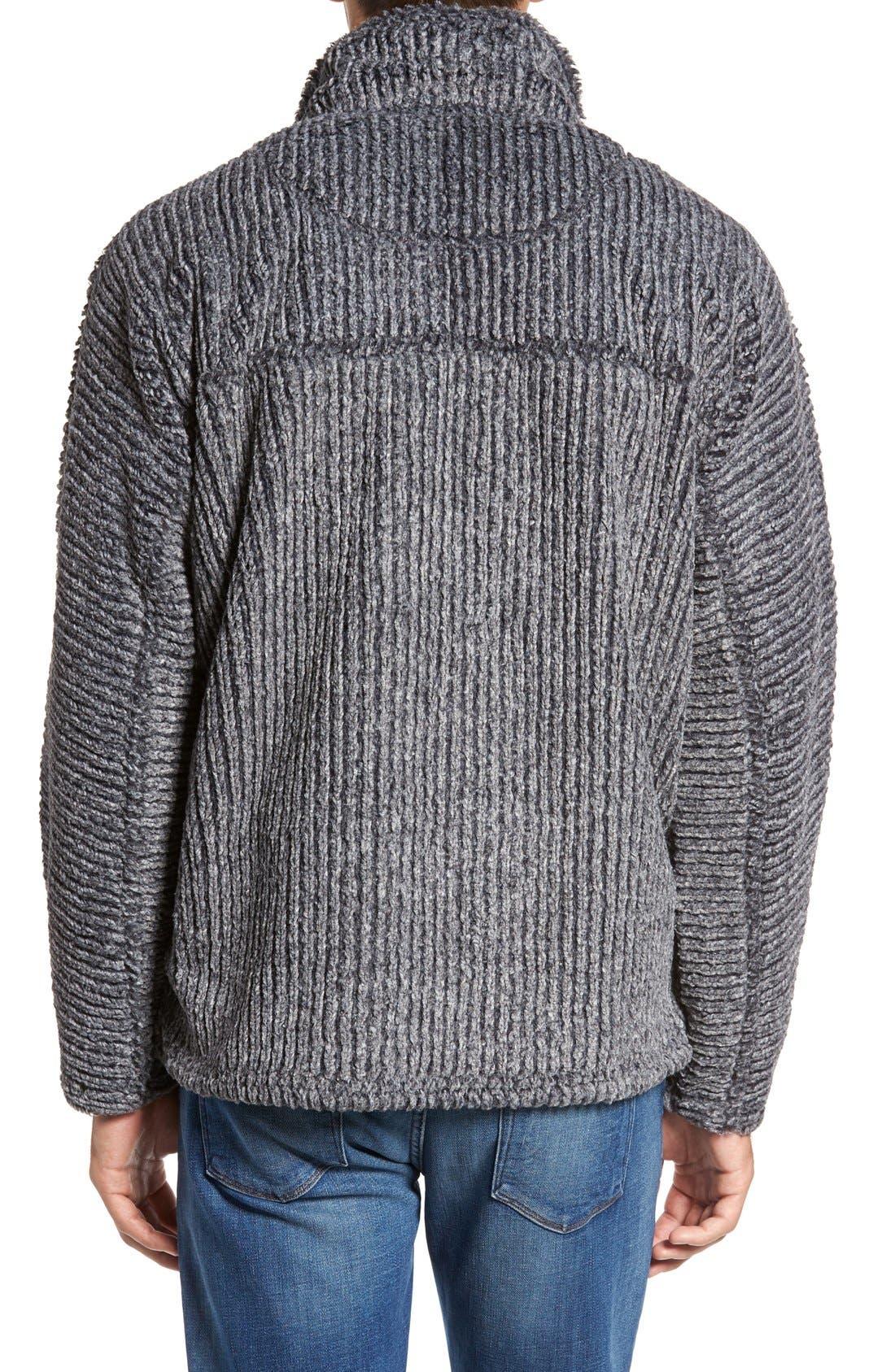 Alternate Image 2  - True Grit Frosty Cord Pile Quarter Zip Pullover