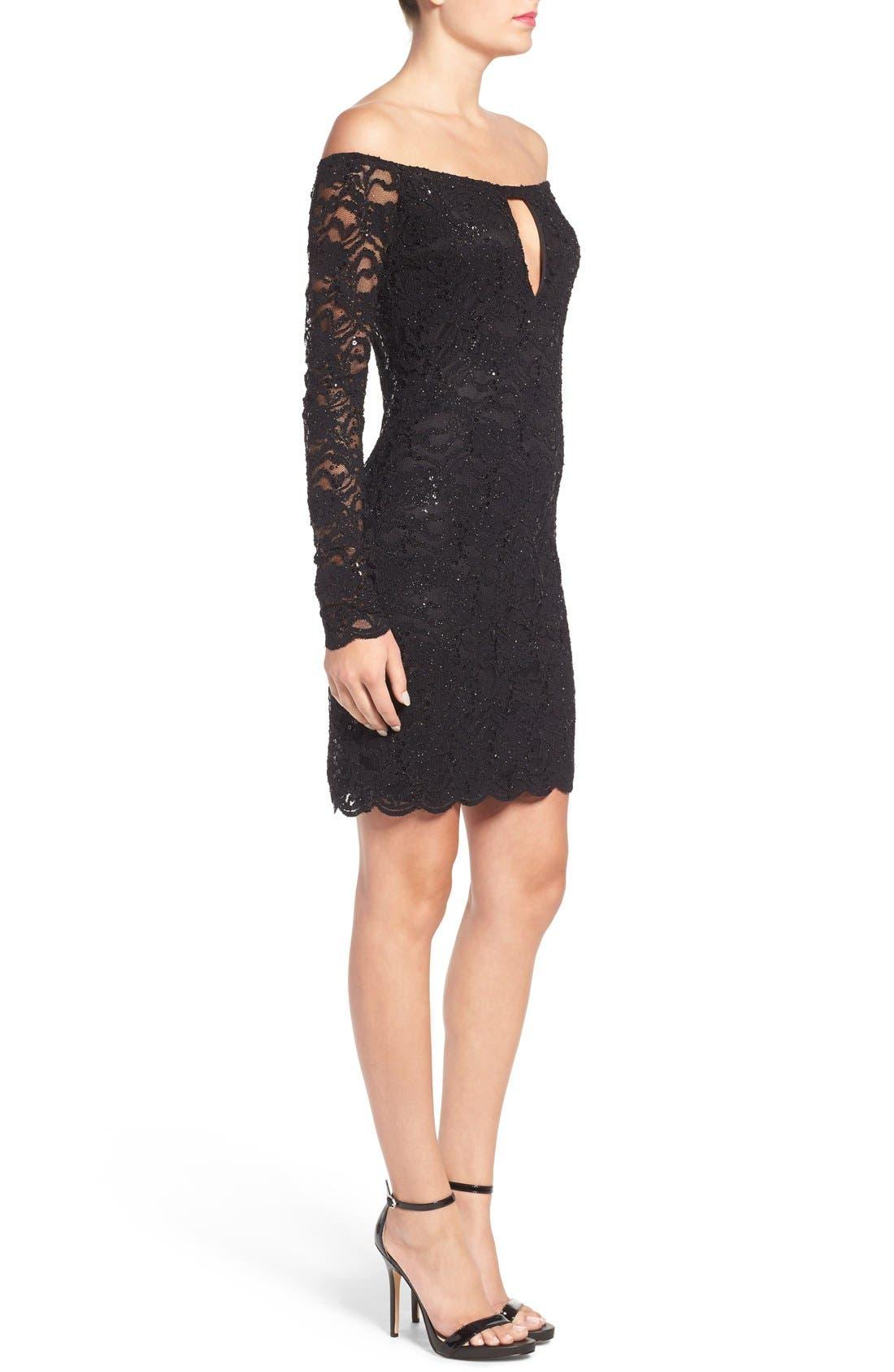 Alternate Image 3  - Jump Apparel Lace Off the Shoulder Body-Con Dress
