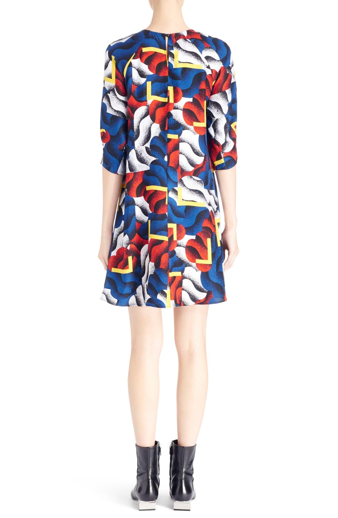 Alternate Image 2  - KENZO 'Clouds & Corners' Print Silk Dress