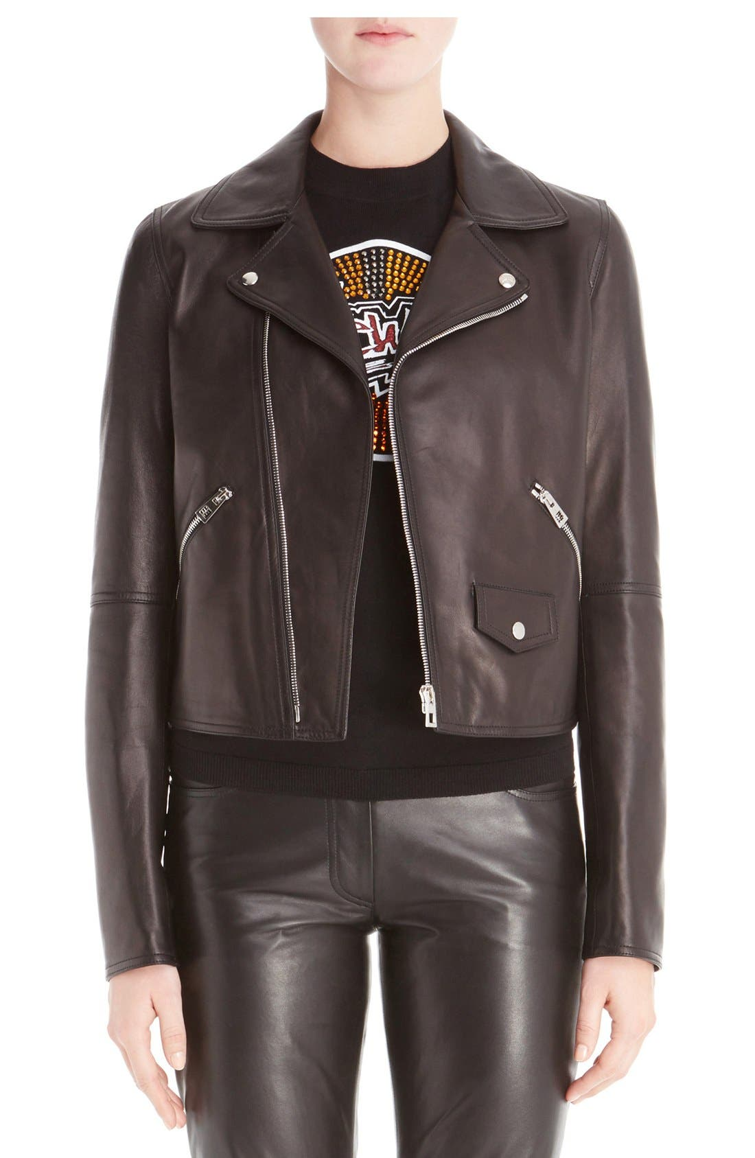 Loewe Leather Moto Jacket